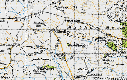 Old map of Lee Gate in 1947