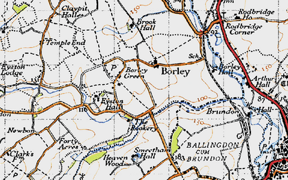 Old map of Borley in 1946