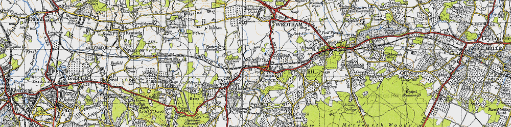 Old map of Borough Green in 1946