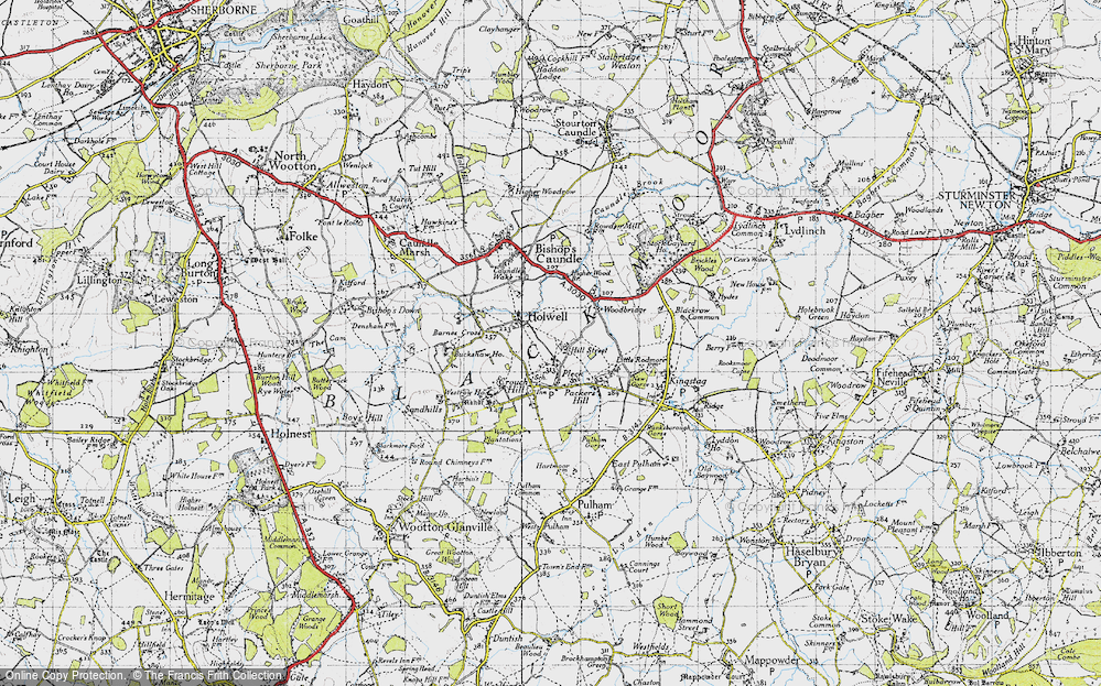 Old Map of Historic Map covering Woodbridge in 1945