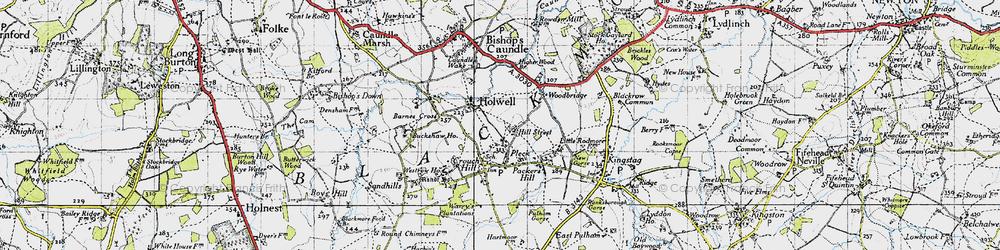 Old map of Woodbridge in 1945