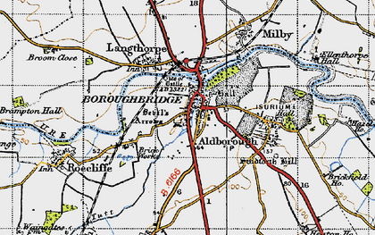 Old map of Boroughbridge in 1947