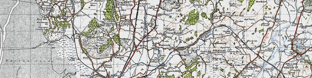Old map of Borwick in 1947
