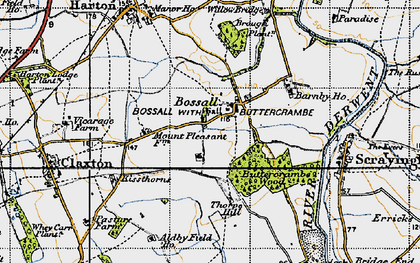 Old map of Aldby Field Ho in 1947