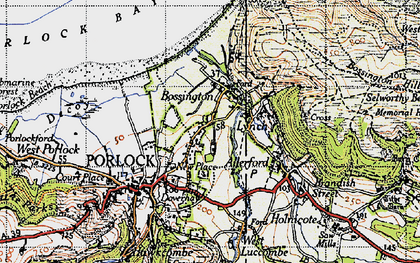 Old map of Bossington in 1946