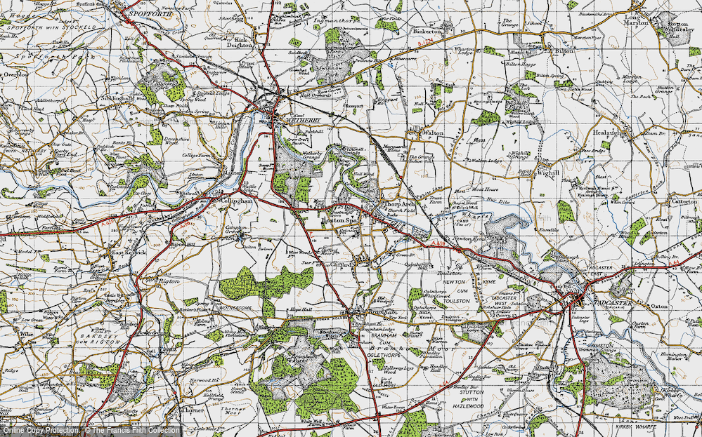 Old Map of Boston Spa, 1947 in 1947