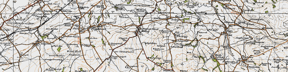 Old map of Wharrels Hill in 1947