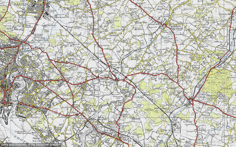 Old Map of Botley, 1945 in 1945