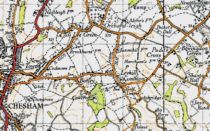 Old map of Botley in 1946