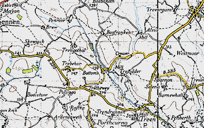 Old map of Bottoms in 1946
