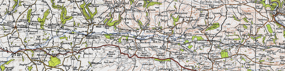 Old map of Wester New Moor in 1946