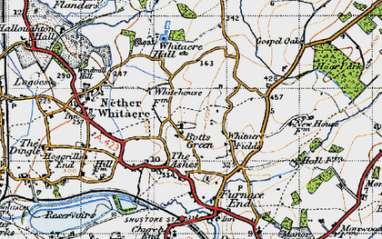 Old map of Whitacre Fields in 1946