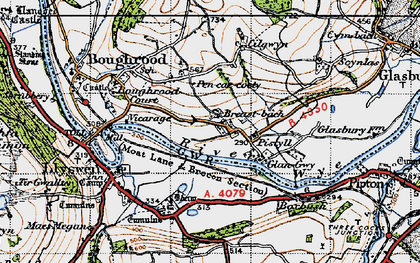 Old map of Boughrood Brest in 1947