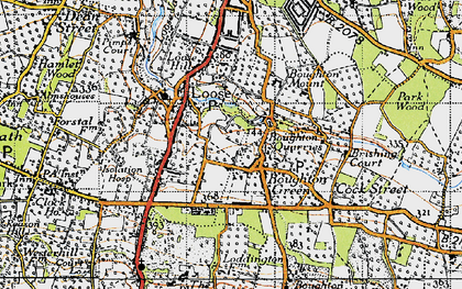 Old map of Boughton Monchelsea in 1940