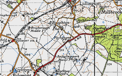 Old map of Bougton End in 1946