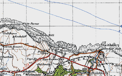 Old map of Boulby in 1947