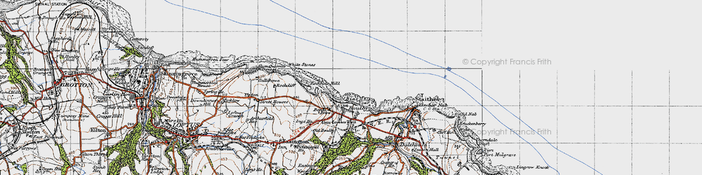 Old map of White Stones in 1947