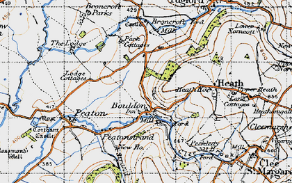 Old map of Wynett Coppice in 1947
