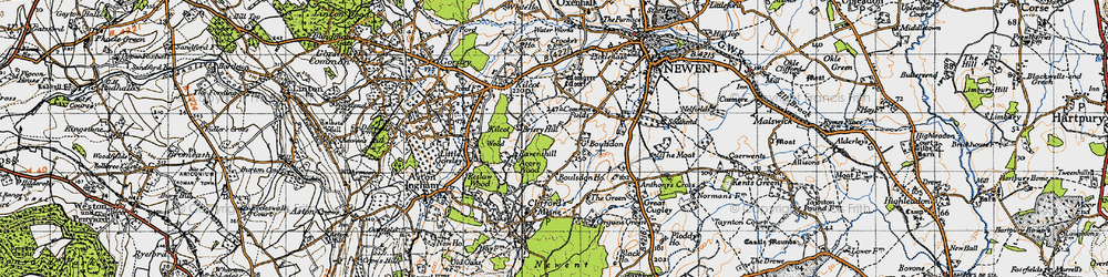 Old map of Acorn Wood in 1947