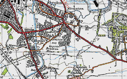 Old map of Boulton in 1946