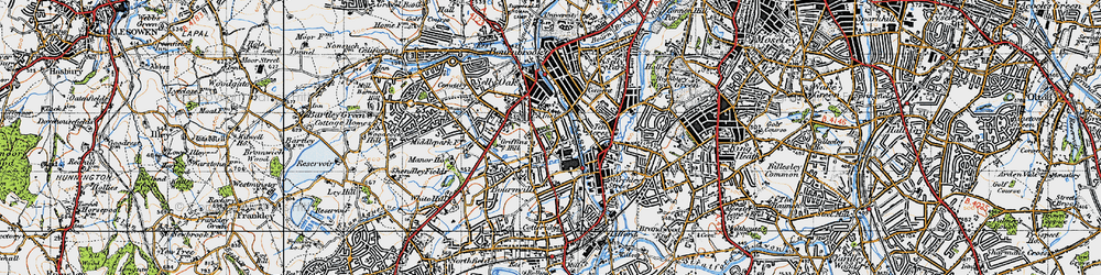 Old map of Bournville in 1947