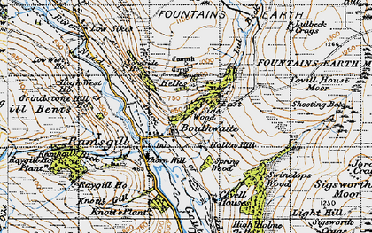 Old map of Light Hill in 1947