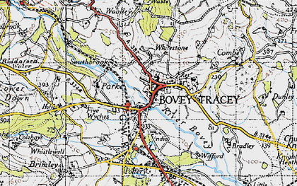 Old map of Whitstone Ho in 1946