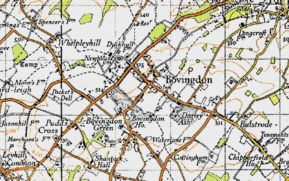 Old map of Bovingdon in 1946