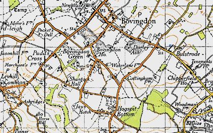 Old map of Bovingdon Green in 1946