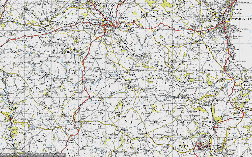Old Map of Bow, 1946 in 1946