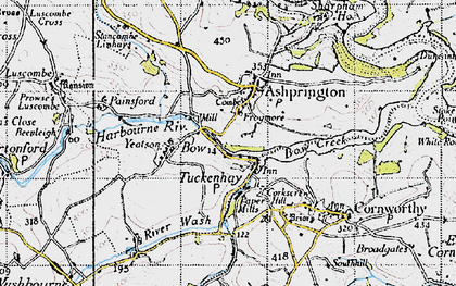 Old map of Yetson in 1946