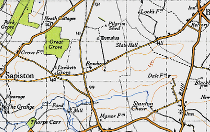 Old map of Lanket's Grove in 1946
