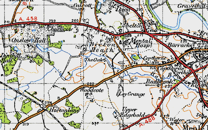 Old map of Ley Grange in 1947