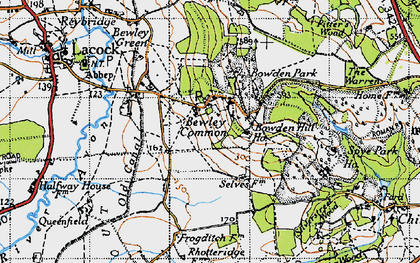 Old map of Bowden Hill in 1940