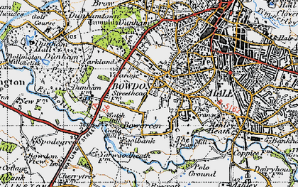 Old map of Bowdon in 1947