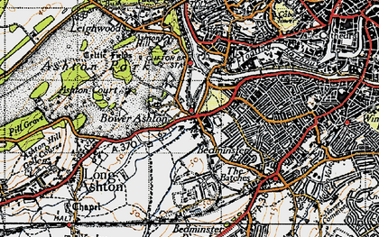 Old map of Bower Ashton in 1946