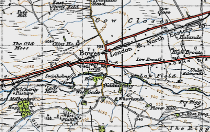 Old map of West Stoney Keld in 1947