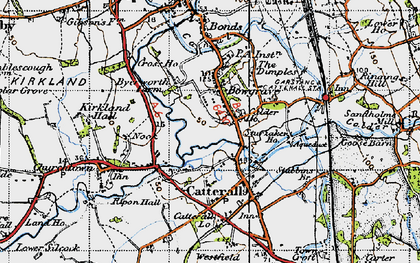Old map of Bowgreave in 1947