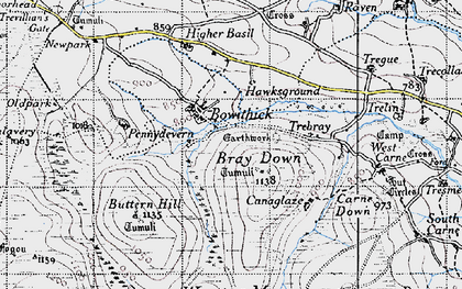 Old map of Bowithick in 1946