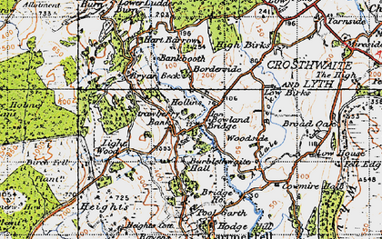 Old map of Barkbooth in 1947