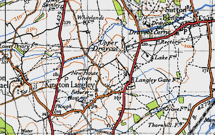 Old map of Bowldown in 1947