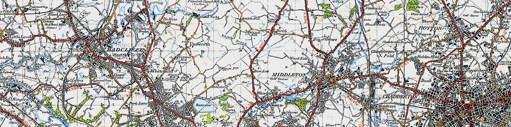 Old map of Whittle Brook in 1947