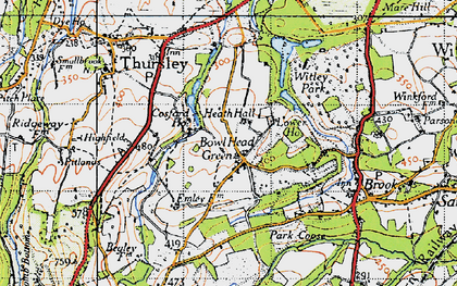 Old map of Thursley Lake in 1940
