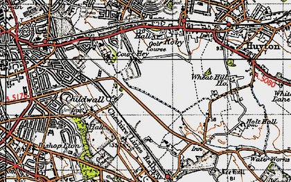 Old map of Bowring Park in 1947