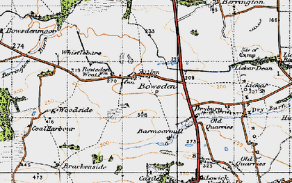 Old map of Lickar Lea in 1947