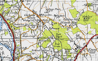 Old map of Bowsey Hill in 1947