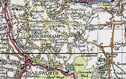 Old map of Box in 1946