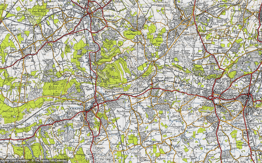 Old Map of Box Hill, 1940 in 1940