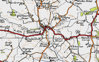 Old map of Boxford in 1946