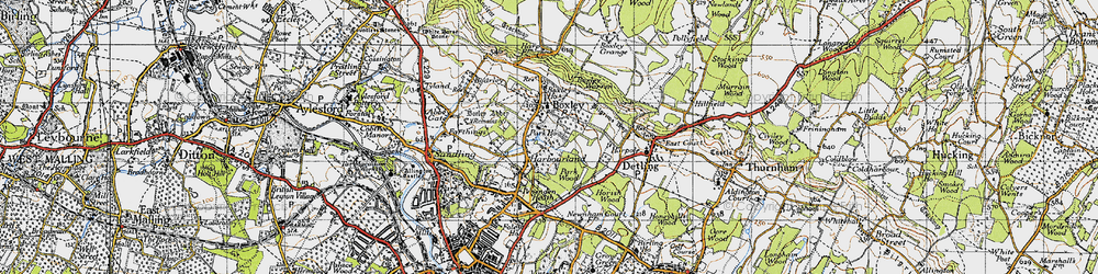 Old map of Boxley in 1946
